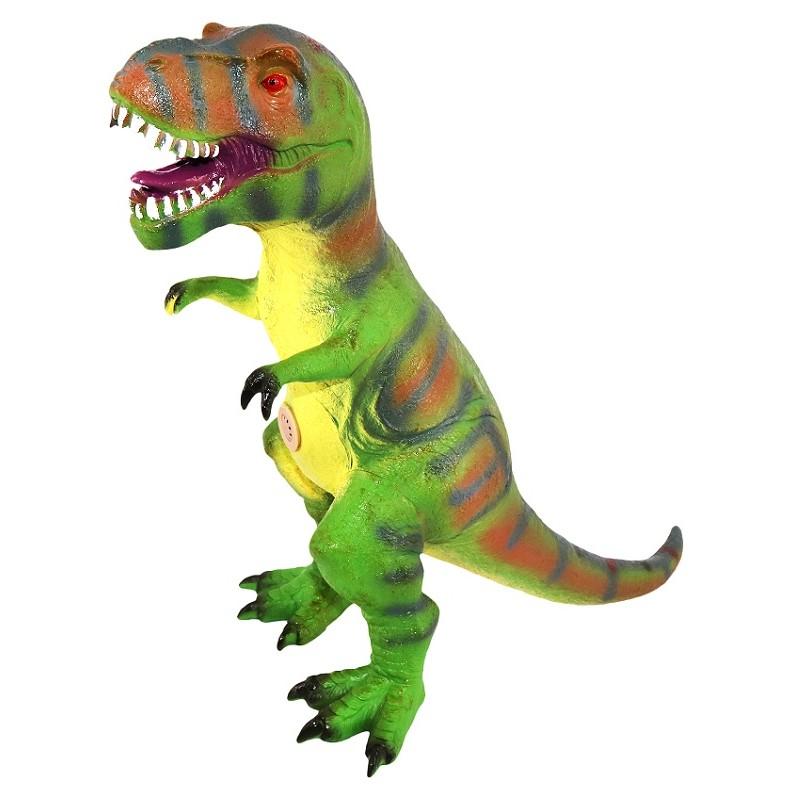 Dinosaurio T Rex Verde Con Sonido De 35 Cm De Alto Tiendas Mgi Cuando pensamos en la era de los dinosaurios sabemos que fue hace mucho tiempo atrás, pero… ¿en qué época vivieron los dinosaurios? dinosaurio t rex verde con sonido 35cm