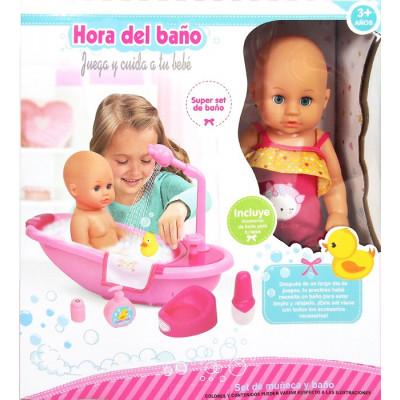 HORA DEL BAÑO SET DE MUÑECA...