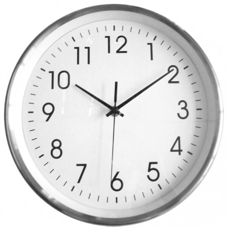 Reloj de pared marco aluminio - Relojes de pared grandes ...