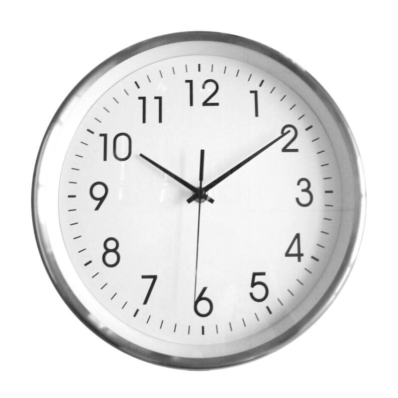 Reloj de pared marco aluminio - Relojes de pared ...
