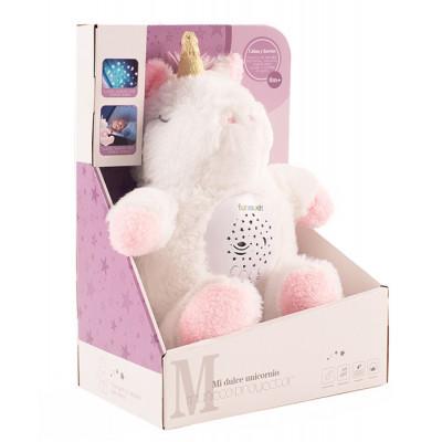 Unicornio peluche proyector