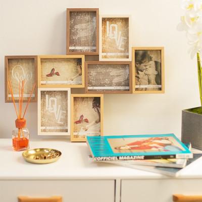 Portafotos de madera 8 fotos