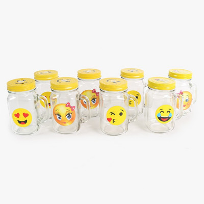 SET 8 JARRAS EMOTICONOS 450ML