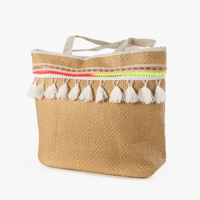 BOLSO COLOR BEIGE CON...
