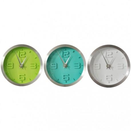 SET DE 3 RELOJES MARCO ALUMINIO de la categoría Decoración Relojes