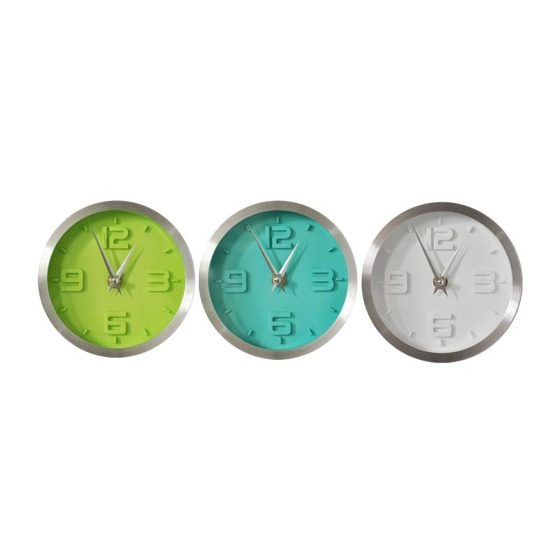 Set de 3 relojes marco aluminio - Tiendas MGI