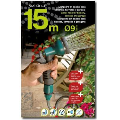 MANGUERA CON PISTOLA 15M KRHÜNER - VERDE
