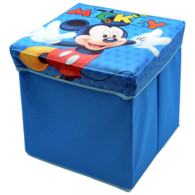 PUFF ACOLCHADO 32X32X32 DEC MICKEY