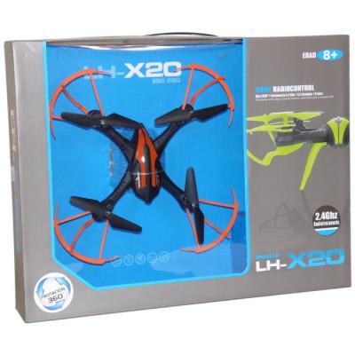 DRONE 4 CANALES 29X29CM LH-X20 2 COLORES SURTIDOS
