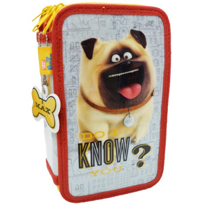 ESTUCHE 3 PISOS THE SECRET LIFE OF PETS GLITTER