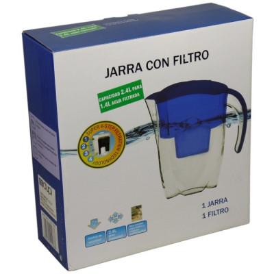 JARRA DE AGUA AZUL CON FILTRO + 2 FILTROS DE REGALO