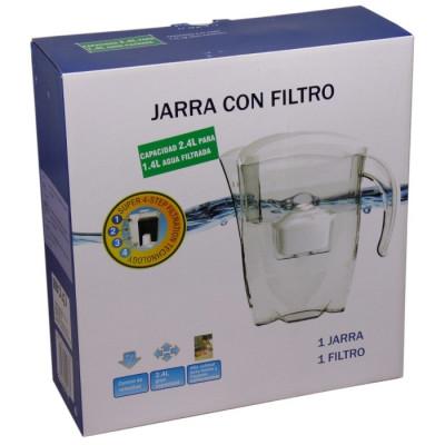 JARRA DE AGUA BLANCA CON FILTRO + 2 FILTROS DE REGALO