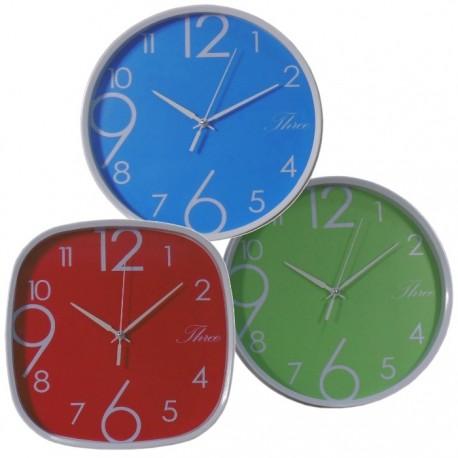 SET 3 RELOJES DE PARED COLORES de la categoría Decoración Relojes