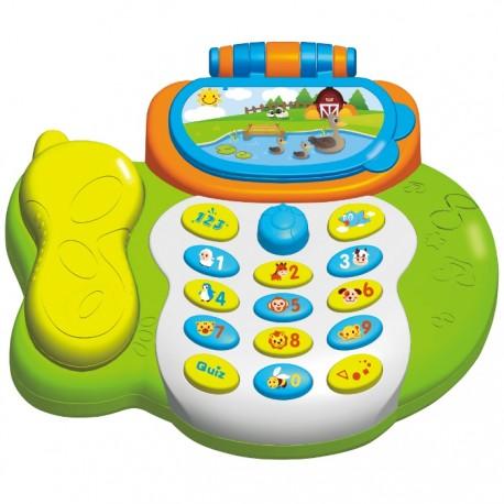 TELÉFONO INTERACTIVO CON LUCES Y MÚSICA de la categoría Preescolar