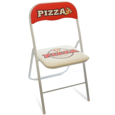 SILLA PLEGABLE METAL TUBO PIZZA