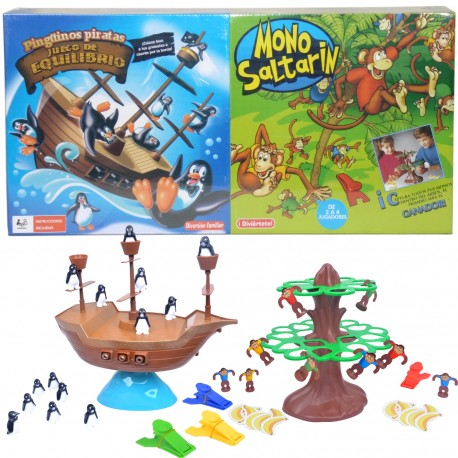 PINGÜINOS PIRATAS + MONO SALTARÍN de la categoría Juegos