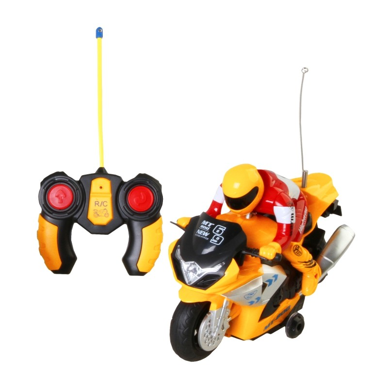 MOTOCICLETA RADIOCONTROL - AMARILLO