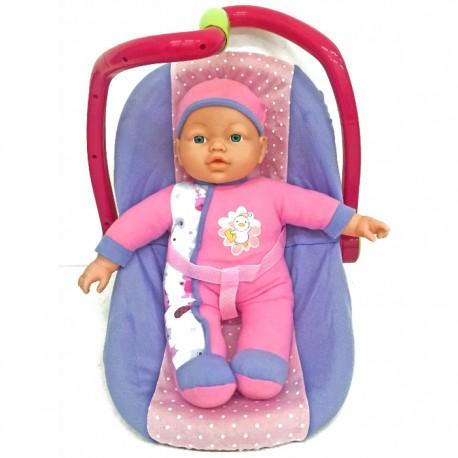 BEBÉ CON PORTABEBÉS de la categoría Muñecas Bebé
