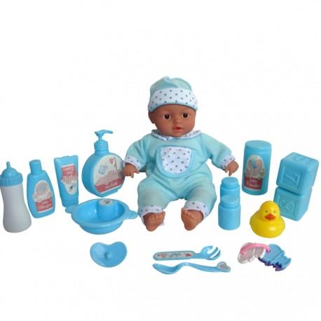 BEBÉ BAÑITOS CON ACCESORIOS - AZUL de la categoría Muñecas Bebé