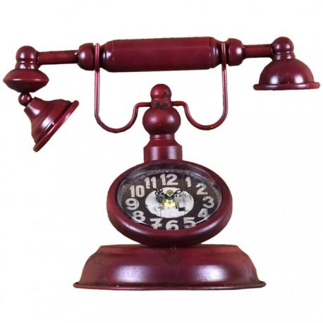 RELOJ CON FORMA DE TELÉFONO GRANATE de la categoría Decoración Relojes