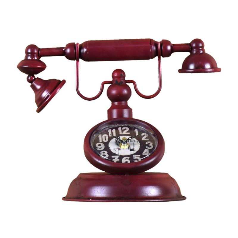 RELOJ CON FORMA DE TELÉFONO GRANATE