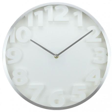 RELOJ GRANDE ALUMINIO BLANCO de la categoría Decoración Relojes