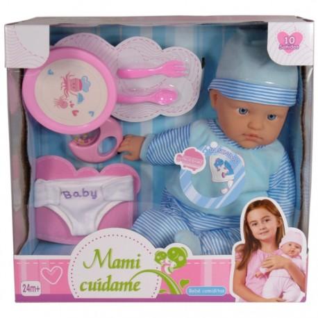 BEBÉ COMIDITAS MAMI CUÍDAME - AZUL de la categoría Muñecas Bebé