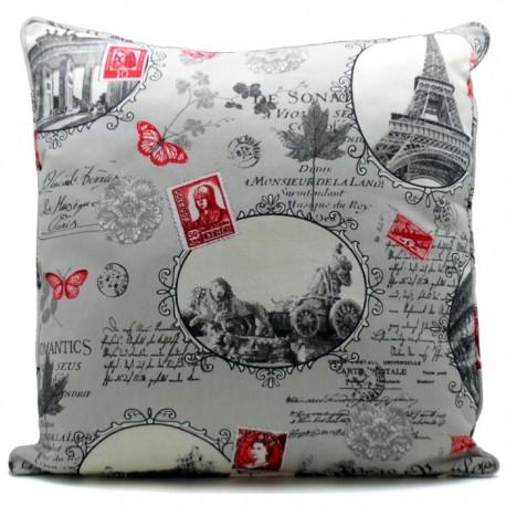 COJIN RELLENO LONETA 60x60CM PARIS - MOD.1 de la categoría Decoración Textil
