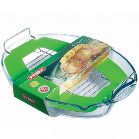 RUSTIDERA CON PARRILLA CLASSIC PYREX 42x30CM de la categoría Menaje Cocina