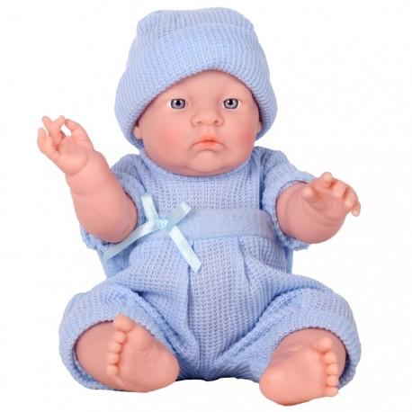 BEBÉ GORDITO - TRAJECITO DE PUNTO AZUL de la categoría Muñecas Bebé