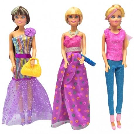 SET 3 MUÑECAS MODA CON ACCESORIOS de la categoría Muñecas Modelo