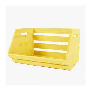 caja-para-estantes-de-madera-amarilla